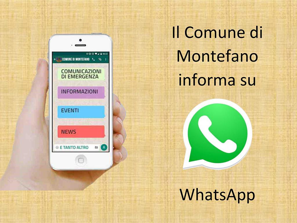 Il Comune di Montefano informa su Whatsapp